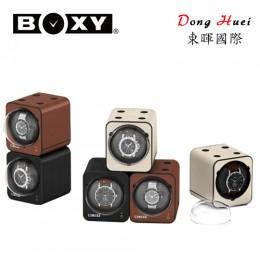 【BOXY手錶自動上鍊盒】Fancy Brick系列-皮革款 自由堆疊 搖錶器 15種轉速設定(不含變壓器)