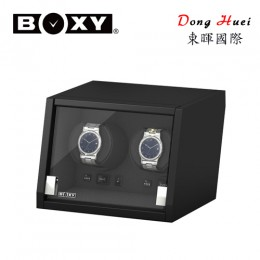 東暉國際代理 BOXY手錶自動上鍊盒收藏盒 城堡系列CA02 LED燈 搖錶器 電子多轉速設定(黑色)