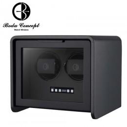 東暉國際代理 Boda Concept A2 德國柏達 碳纖維紋手錶自動上鍊盒 防磁設計 搭LED鑑賞燈 多種轉速設定 旋轉盒 搖錶器