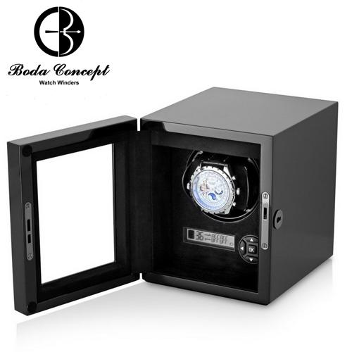 東暉國際代理 Boda Concept H1 德國柏達手錶自動上鍊盒 實木鋼烤 LED燈 26種轉速 睡眠設定 搖錶器 旋轉盒.(另有免插電款售價$4980元)