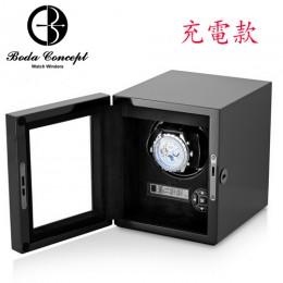 東暉國際代理 Boda Concept H1B 德國柏達手錶自動上鍊盒收藏錶盒 搖錶器 實木鋼烤 LED燈 多種設定轉速 睡眠設定 (免插電充電款)
