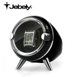 【Jebely手錶自動上鍊盒】JBW090  瑞士精品 簡約風格 Ovo 搖錶器 4種轉速設定 (1支裝黑色)