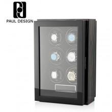 東暉國際代理 PAUL DESIGN GEN 6 英國保羅設計 手錶自動上鍊盒 搭LED鑑賞燈 31種轉數設定旋轉盒 搖錶器 (另有-智慧指紋鎖款.售價$59800元)