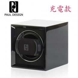東暉國際代理 PAUL DESIGN P1 英國保羅設計手錶自動上鍊盒(小體積設計免插電) 旋轉盒 搖錶器 收藏盒錶盒(黑色)