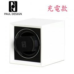 東暉國際代理 PAUL DESIGN P1 英國保羅設計手錶自動上鍊盒(小體積設計免插電) 旋轉盒 搖錶器 收藏盒錶盒(白色)