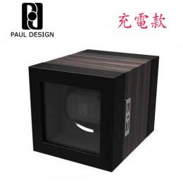 東暉國際代理 PAUL DESIGN P1T 英國保羅設計手錶自動上鍊盒(免插電) 附鎖 旋轉盒 搖錶器 收藏盒錶盒