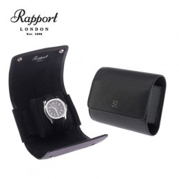 英國進口 Rapport 瑞伯特 Single -D190 真皮 手錶收藏盒 (1支裝 全黑色)