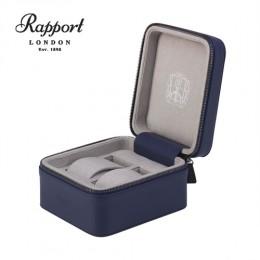 英國進口 Rapport 瑞伯特 Hyde Park -D263真皮 手錶收藏盒 (2支裝)