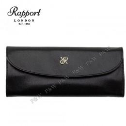 英國進口 Rapport 瑞伯特 Aria -F120 真皮珠寶卷 珠寶收藏盒 首飾盒 攜帶包 (黑+米色)
