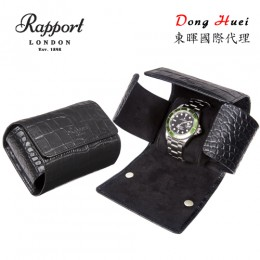 東暉國際代理 Rapport 英國瑞伯特 Single -L116 手錶攜行包.收藏盒 (真皮鱷魚紋黑色)