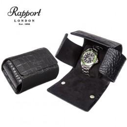 英國進口 Rapport 瑞伯特 Single -L116 真皮鱷魚花紋 手錶收藏盒 (1支裝)