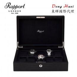 東暉國際代理 Rapport 英國瑞伯特 Brompton -L264 鱷魚紋真皮 手錶收藏盒 (10支裝 黑色)