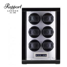 東暉代理 Rapport Formula W556 英國瑞伯特手錶自動上鍊盒 LED燈 電子式轉速設定 搖錶器 (6轉座-黑鋼烤)