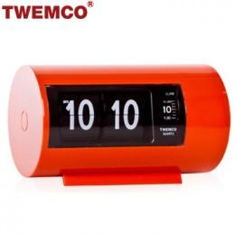 TWEMCO AP-28 翻頁鐘 機械式德國機芯 圓筒小鬧鐘 (橘色)