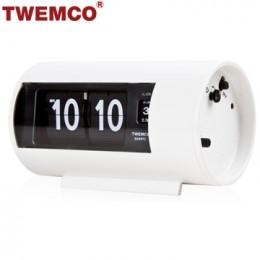 TWEMCO AP-28 翻頁鐘 機械式德國機芯 圓筒小鬧鐘 (白色)