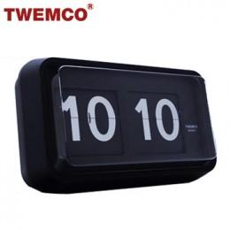 TWEMCO BQ-100 翻頁鐘 機械式德國機芯 大數字掛鐘 (黑色)