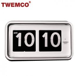 TWEMCO BQ-100 翻頁鐘 機械式德國機芯 大數字掛鐘 (白色)