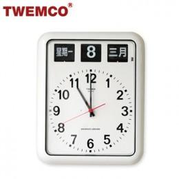 TWEMCO BQ-12A 系列 翻頁鐘 機械式德國機芯 萬年曆 指針掛鐘