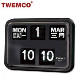 TWEMCO BQ-17 翻頁鐘 機械式德國機芯 萬年曆 掛鐘 (黑色中英文版)