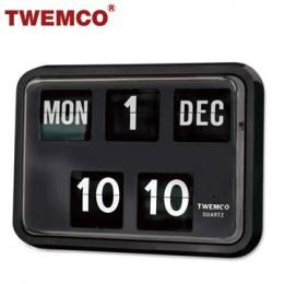 TWEMCO BQ-17 翻頁鐘 機械式德國機芯 萬年曆 掛鐘 (黑色英文版)