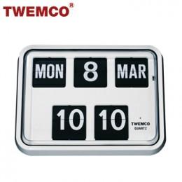 TWEMCO BQ-17 翻頁鐘 機械式德國機芯 萬年曆 掛鐘 (白色英文版)