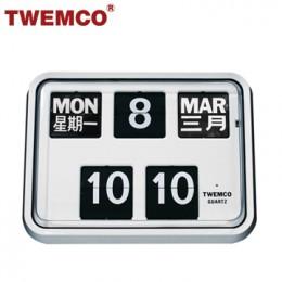 TWEMCO BQ-17 翻頁鐘 機械式德國機芯 萬年曆 掛鐘 (白色中英文版)