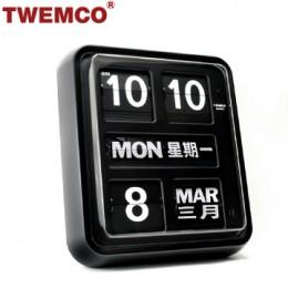 TWEMCO BQ-170 翻頁鐘 機械式德國機芯 萬年曆 掛鐘 (黑色中英文版)