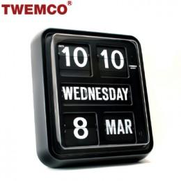 TWEMCO BQ-170 翻頁鐘 機械式德國機芯 萬年曆 掛鐘 (黑色英文版)