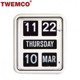 TWEMCO BQ-170 翻頁鐘 機械式德國機芯 萬年曆 掛鐘 (白色英文版)
