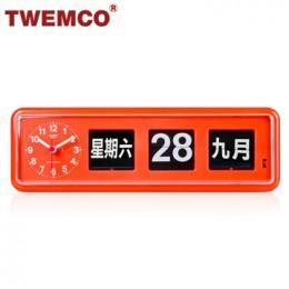 TWEMCO BQ-38 翻頁鐘 機械式德國機芯 萬年曆 可壁掛及桌放 (橘色中文版)