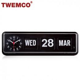 TWEMCO BQ-38 翻頁鐘 機械式德國機芯 萬年曆 可壁掛及桌放 (黑色英文版)