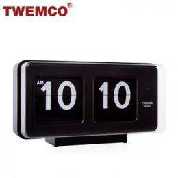 TWEMCO BQ-50 翻頁鐘 機械式德國機芯 大數字可壁掛及桌放 (黑色)