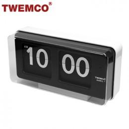 TWEMCO BQ-50 翻頁鐘 機械式德國機芯 大數字可壁掛及桌放 (白色)