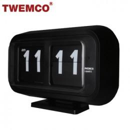 TWEMCO BQ-58 翻頁鐘 機械式德國機芯 大數字可壁掛及桌放 (黑色)