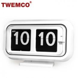 TWEMCO BQ-58 翻頁鐘 機械式德國機芯 大數字可壁掛及桌放 (白色)