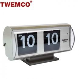 TWEMCO QT-30T 翻頁鐘 機械式德國機芯 復古半圓形 (灰色)