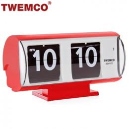 TWEMCO QT-30T 翻頁鐘 機械式德國機芯 復古半圓形 (紅色)