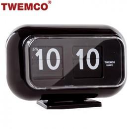 TWEMCO QT-35 翻頁鐘 機械式德國機芯 可壁掛及桌放 (黑色)