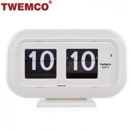 TWEMCO QT-35 翻頁鐘 機械式德國機芯 可壁掛及桌放 (白色)