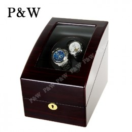 【P&W手錶自動上鍊盒】3024EB 手工木質鋼烤 搖錶器 電池插電雙用(2+3支裝 黑壇木紋+黑色)