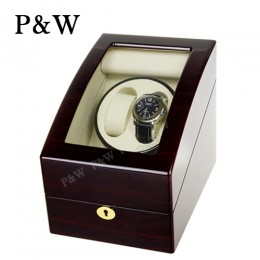 【P&W手錶自動上鍊盒】3024EW 手工木質鋼烤 搖錶器 電池插電雙用(2+3支裝 黑壇木紋+米色)