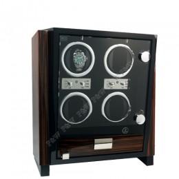 東暉國際代理 EURO PASSION 4 瑞士經典手錶自動上鍊盒收藏盒 搭LED鑑賞燈 多種模式獨立設定簡易操作 旋轉盒 搖錶器 錶盒