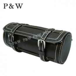 P&W 手工 真皮 名錶收藏盒 (3支裝錶盒 黑+米色)