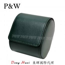 P&W 手工 超纖皮革材質 名錶收藏盒 (1支裝錶盒 綠+黑色)