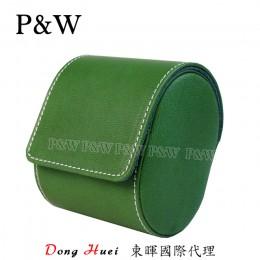 P&W 手工 真皮 名錶收藏盒 (1支裝錶盒 綠+藍色)