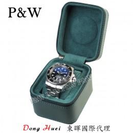 P&W 手工 超纖皮革材質 名錶收藏盒 (1支裝錶盒 綠色)